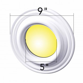 spec-<PRE>Spot Light Ring White Trim 5&quot; ID x 9&quot; OD Mini Medallion Set of 3</PRE>