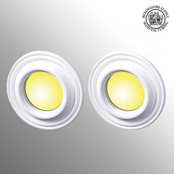 2 Spot Light Ring White Trim 8