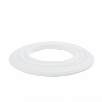 "<PRE>3 Spot Light Ring White Trim 5inch ID x 9"" OD Mini Medallion </PRE>zoom5"