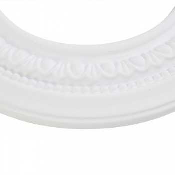 "<PRE>3 Spot Light Ring White Trim 5inch ID x 9"" OD Mini Medallion </PRE>zoom6"