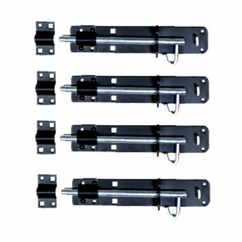 4 Black Wrought Iron Slide Door Brenton Bolt 4