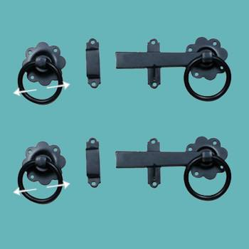 <PRE>Floral Gate Latch Cast Iron Rustproof Finish 7 in W Pack of 2</PRE>zoom2