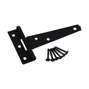 <PRE>6 Pcs T Strap Door Hinges Black Cast Iron 5inch Set of 6 </PRE>zoom4