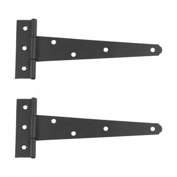 2 T Strap Door Hinge Black RSF Wrought Iron 7