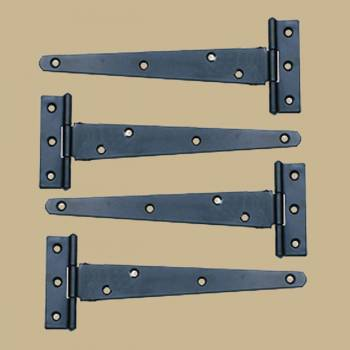 <PRE>4 T Strap Door Hinges RSF Black Iron Light Duty Hinges 11inch </PRE>zoom2