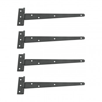 <PRE>4 T Strap Door Hinges RSF Black Iron Light Duty Hinges 11inch </PRE>zoom1