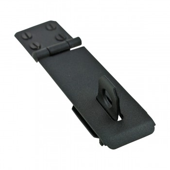"<PRE>4 Hasp Black Wrought Iron 1 5/8inch H x 5 7/8"" W </PRE>zoom8"