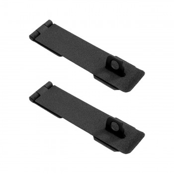 "<PRE>Hasp Black Cast Iron 1 5/8inch H x 8 1/4"" W Pack of 2</PRE>zoom1"