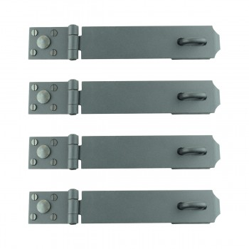 <PRE>4 Hasp Black Iron 2 3/8&quot; H x 12 3/4&quot; W 4 Pack </PRE>