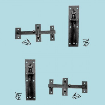 <PRE>Wrought Iron Gate Latch Lock Norfolk Black 7 Inch</PRE>