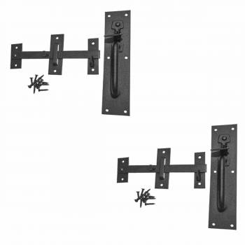 2 Gate Latches Norfolk Black Wrought Iron