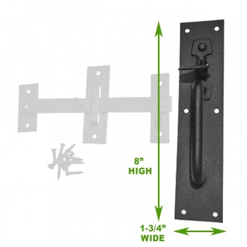 spec-<PRE>2 Iron Gate Latch Norfolk Gate Lock Black Iron </PRE>