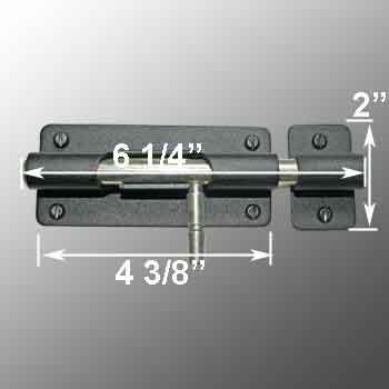 spec-<PRE>4 Door Bolt Barrel Slide Black Iron 4 3/8&quot; W </PRE>