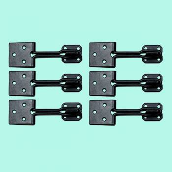 <PRE>6 Door Hasp Lock Black Wrought Iron Wire 3&quot; </PRE>