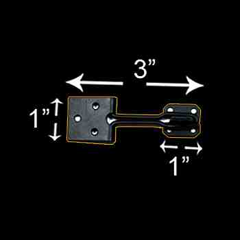 spec-<PRE>6 Door Hasp Lock Black Wrought Iron Wire 3&quot; </PRE>