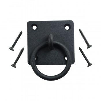 6 Black Cast Iron Ring Pulls Cabinet Hardware Ring Pull Cabinet Pull Iron Ring Pulls