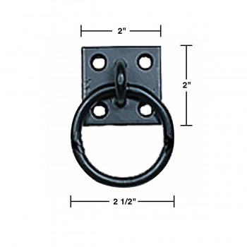 spec-<PRE>6 Black Cast Iron Ring Pulls Cabinet Hardware </PRE>