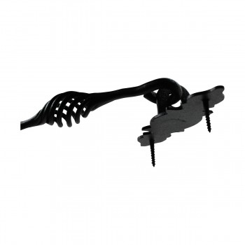 Black Wrought Iron Eye Hook 6 12 in. Set of 3 Hooks Decorative Hook Coat Hook