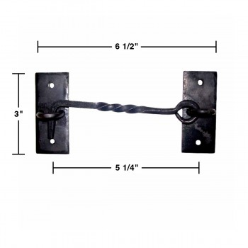 spec-<PRE>Cabin Hook Black Cast Iron Rustproof Eye Shed Gate Door Latch 6 in. Set of 3</PRE>