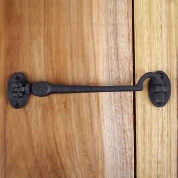 <PRE>Black Wrought Iron Eye Hook 6 in Rustproof Cabins Gates Doors Lockers Pack of 2</PRE>zoom9