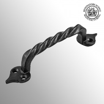 <PRE>Twisted Black Cast Iron Cabinet Door Drawer Pull 5 7/8inch Total Length</PRE>zoom2