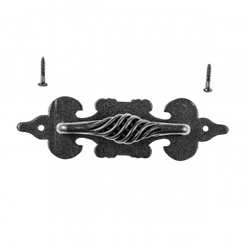 <PRE>2 Cabinet Pull Birdcage Black Wrought Iron 6inch </PRE>zoom5