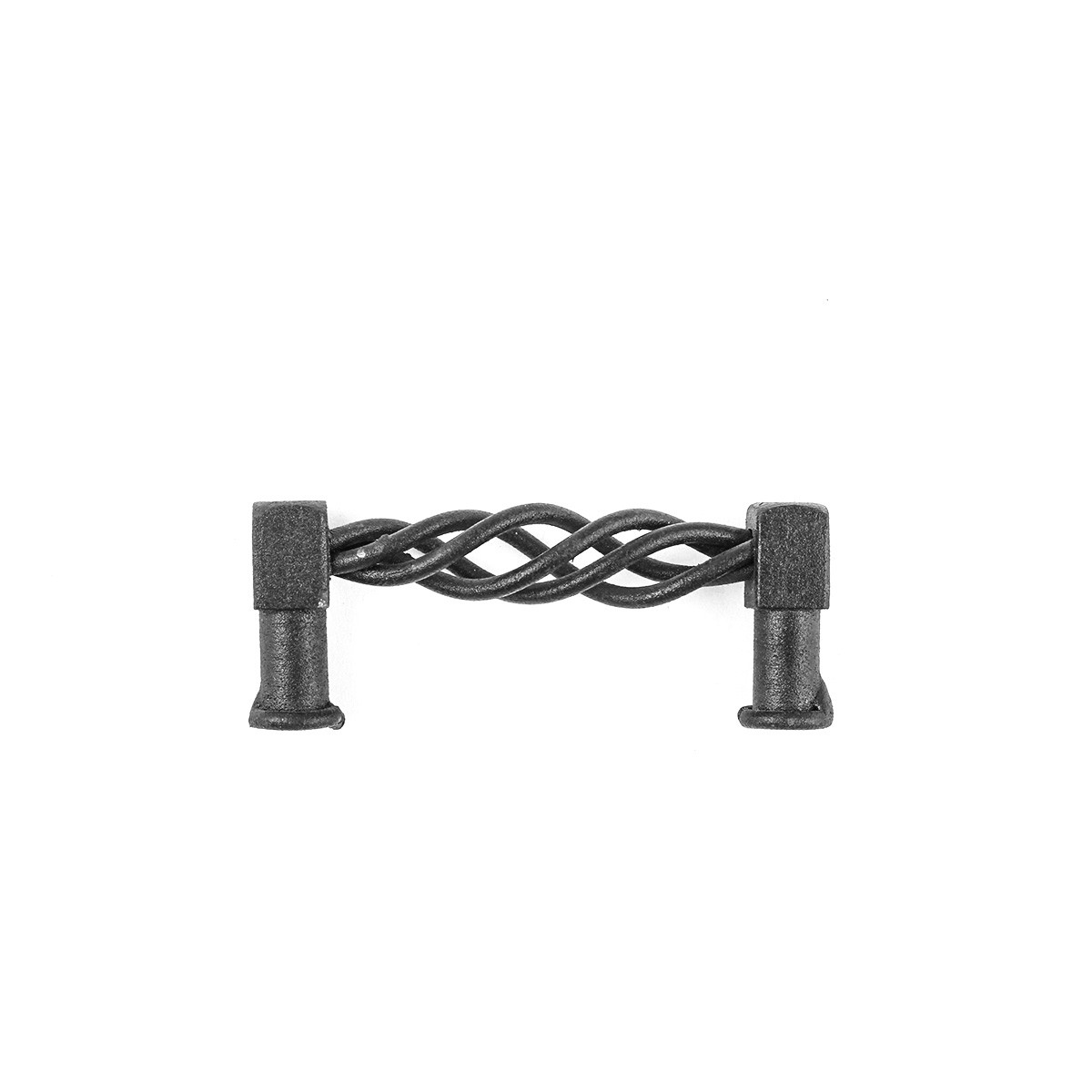 2 Drawer Pulls Black Wrought Iron 312 Set of 2 Cabinet Pull Cabinet Hardware Drawer Pull