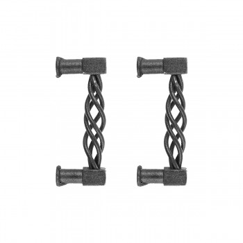 <PRE>2 Drawer Pulls Black Wrought Iron 3-1/2inch Set of 2 </PRE>zoom1