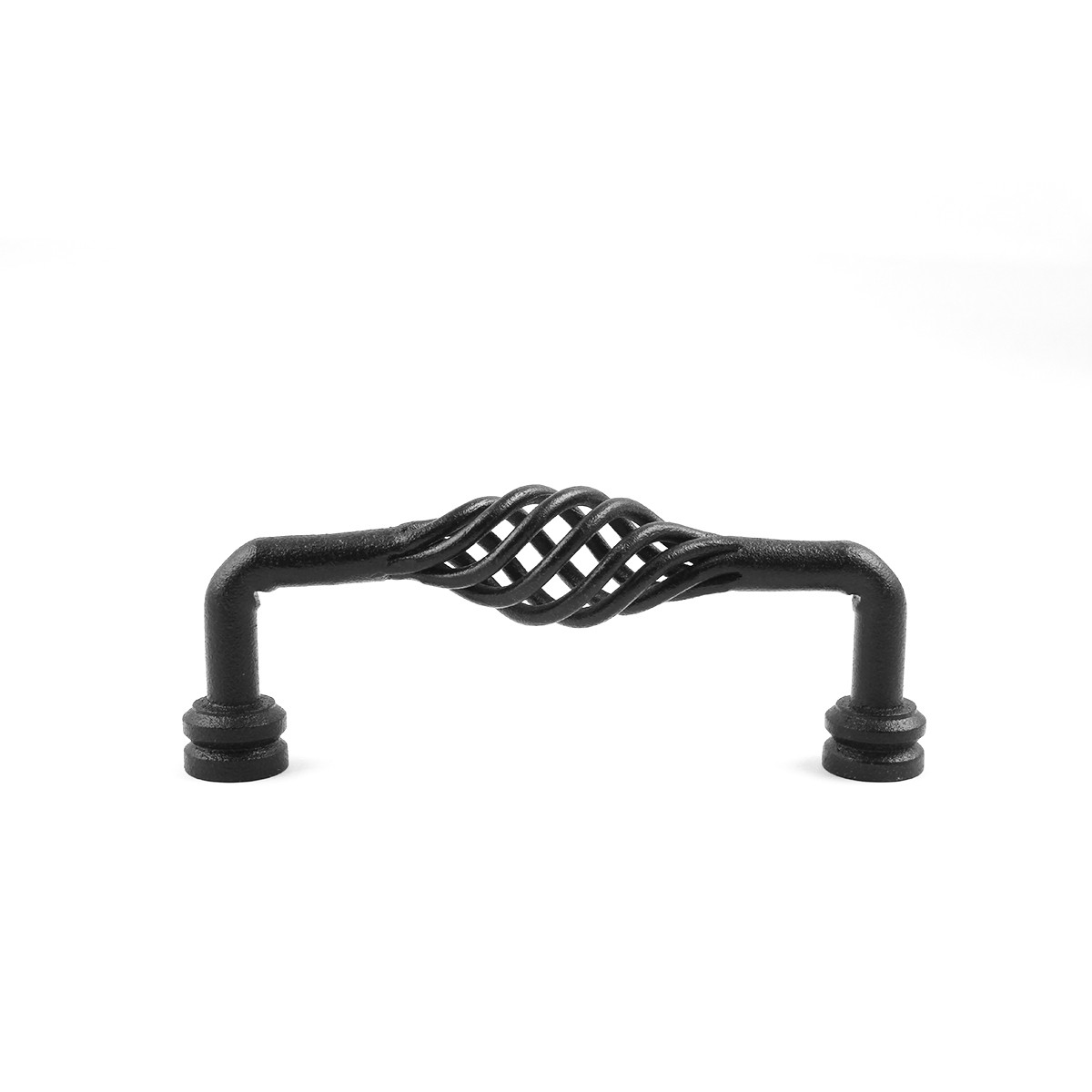 6 Black Wrought Iron Drawer Handle Cabinet Pull Birdcage Design Pack of 4 Furniture Hardware Cabinet Pull Cabinet Hardware