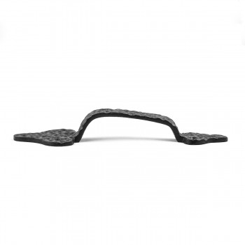 <PRE>2 Door Pull Leaf Black Wrought Iron 8inch </PRE>zoom5