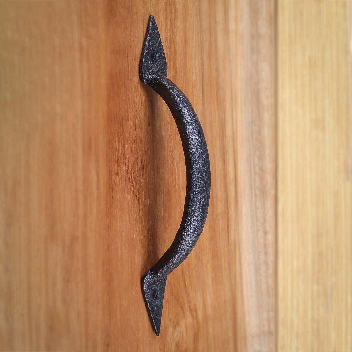 4 Door Pull Spike Black Wrought Iron 6 38 H X 1 14 W Door Pull Black Door Pulls Iron Door Pulls
