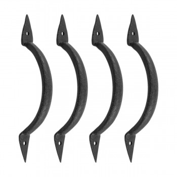 4 Door Pull Spike Black Wrought Iron 6 38 H X 1 14 W