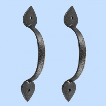 Black Wrought Iron Drawer Door Pull Handle Heart Design 6.785in H Set of 2 Door Pull Door Pulls