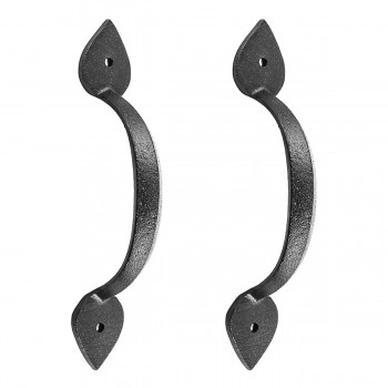 Black Wrought Iron Drawer Door Pull Handle Heart Design 6785in H Set of 2