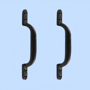 <PRE>2 Door Pull Black Wrought Iron Pull 6inch </PRE>zoom2