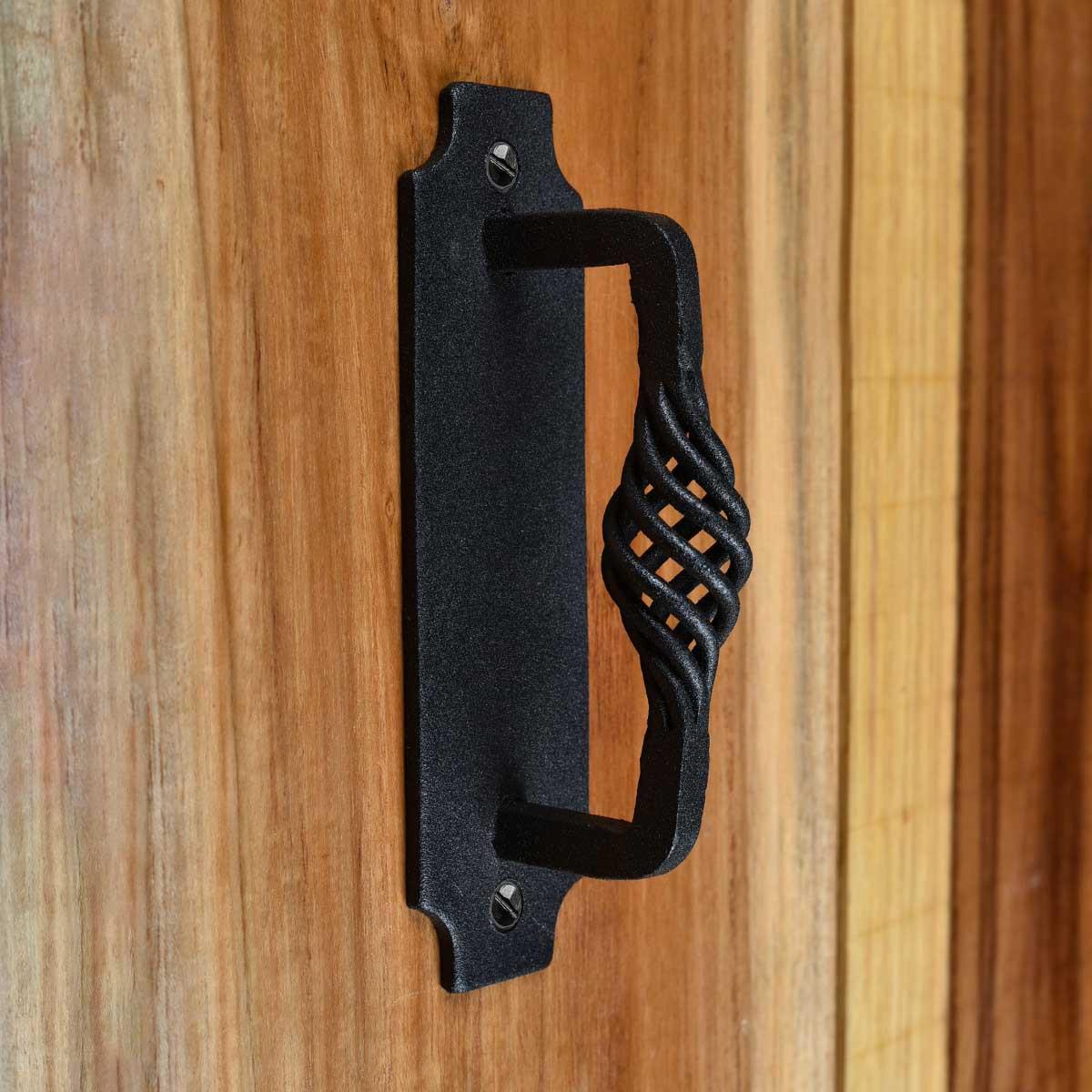 2 Door or Drawer Pull Birdcage Black Wrought Iron 5 12 Unique Birdcage Door Pull Door Pulls