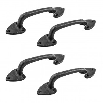 <PRE>4 Door Pulls Black Wrought Iron Heart Shaped Set of 4 </PRE>