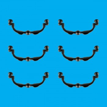 <PRE>6 Cabinet or Drawer Bail Pull 6&quot; Wrought Iron </PRE>