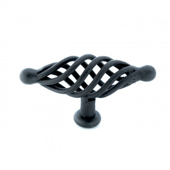 <PRE>10 Door or Drawer Cabinet Pull Birdcage Black Iron 3 1/4inch </PRE>zoom3