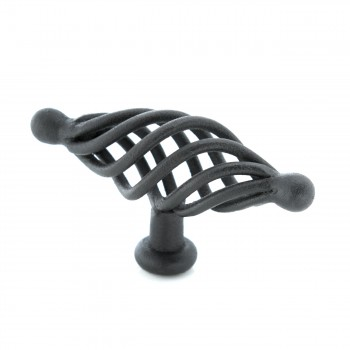 <PRE>10 Door or Drawer Cabinet Pull Birdcage Black Iron 3 1/4inch </PRE>zoom4
