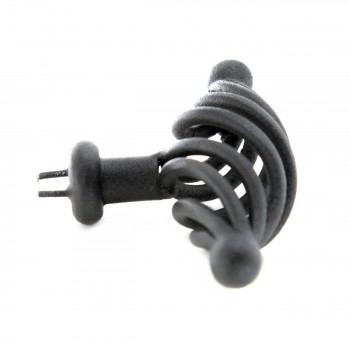 <PRE>10 Door or Drawer Cabinet Pull Birdcage Black Iron 3 1/4inch </PRE>zoom5
