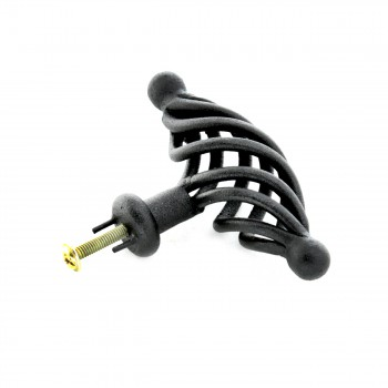 <PRE>10 Door or Drawer Cabinet Pull Birdcage Black Iron 3 1/2inch </PRE>zoom6
