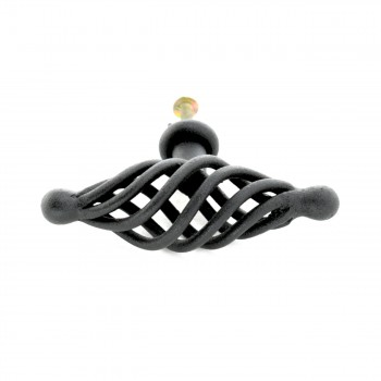 <PRE>10 Door or Drawer Cabinet Pull Birdcage Black Iron 3 1/4inch </PRE>zoom7