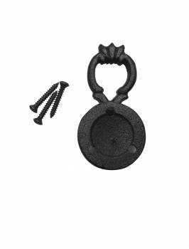 <PRE>Set of 2 Ring Cabinet Drawer Door Pull Wrought Iron Black 2 1/inch H </PRE>zoom3