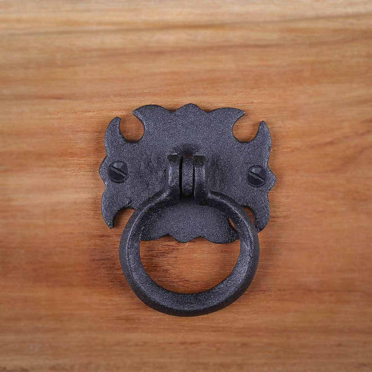6 Cabinet Drawer Door Ring Pull Wrought Iron 3 12 Ring Pull Ring Pulls Iron Ring Pulls