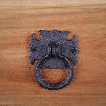 <PRE>6 Cabinet Drawer Door Ring Pull Wrought Iron 3 1/2inch  </PRE>zoom8