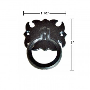 "spec-<PRE>6 Cabinet Drawer Door Ring Pull Wrought Iron 3 1/2""  </PRE>"