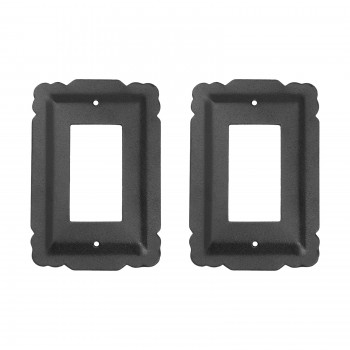 2 Switchplate Black Steel SIngle GFI RSF Switch Plate Wall Plates Switch Plates