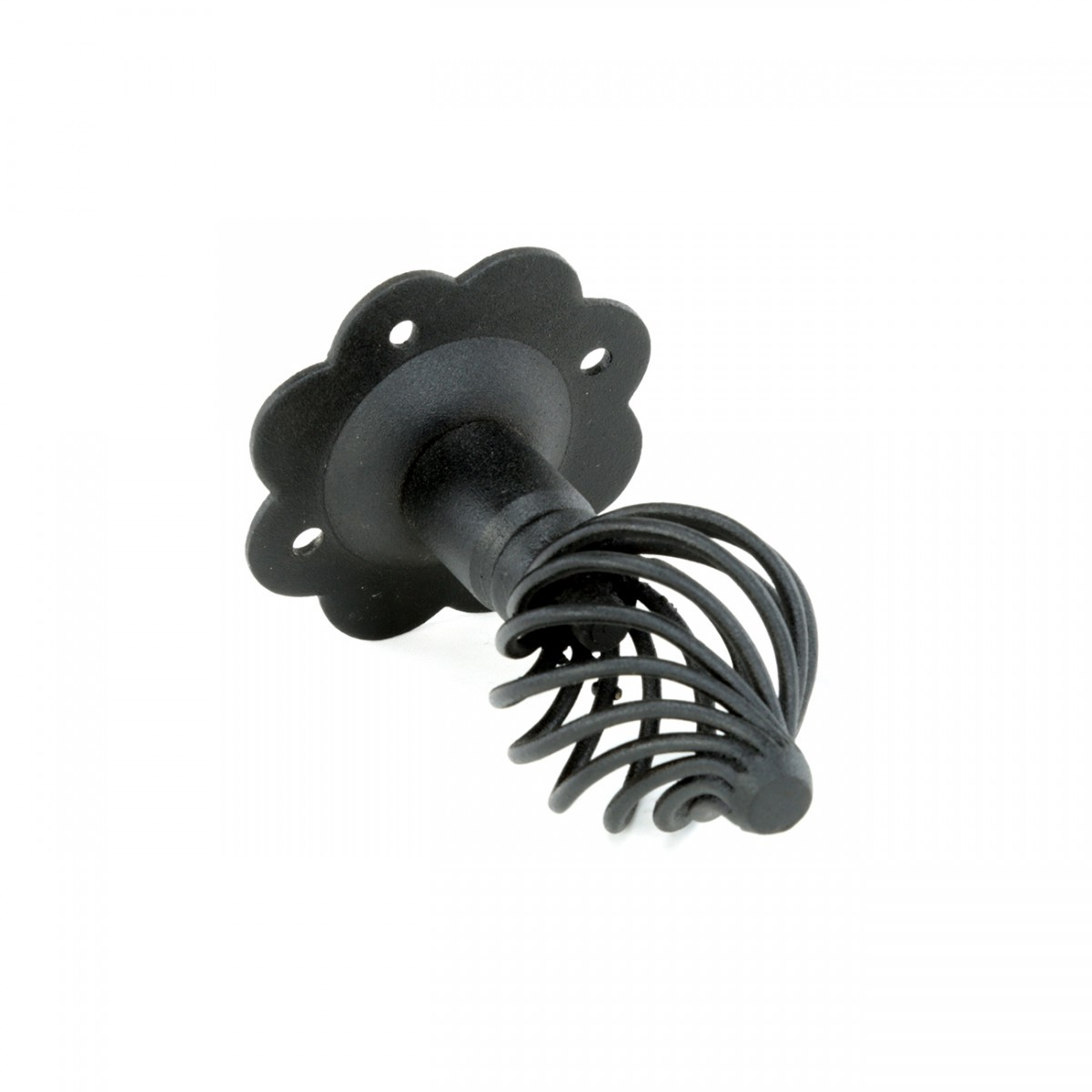 10 Cabinet or Drawer Birdcage Pull Black Iron 4 x 2 12 H Furniture Hardware Cabinet Pull Cabinet Hardware