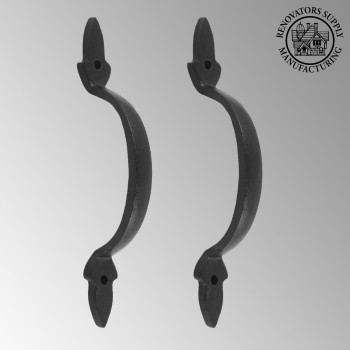 <PRE>2 Door Pulls Black Wrought Iron Fleur de Lis Set of 2 </PRE>zoom2